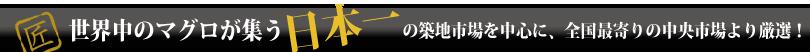 世界中のマグロが集う日本一の築地市場を中心に、全国最寄りの中央市場より厳選!